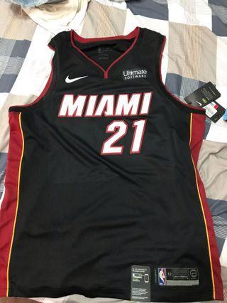 NIkE NBA球衣 WHITESIDE 含贊助標 全新XL 黑白各一件