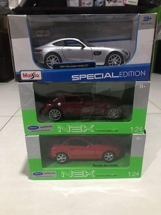 Nex Welly 1:24 Mercedes Benz 2 pcs dan Maisto Mercedes Benz 1:24 1 pcs (sepaket)