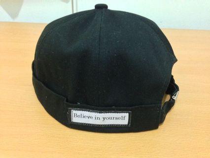 """Believe in Yourself"" 黑色 水兵帽 水手帽 無檐帽"