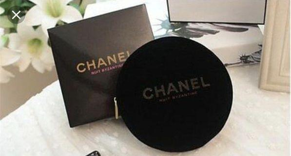 Chanel round pouch with box