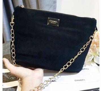 Chanel makeup velvet sling