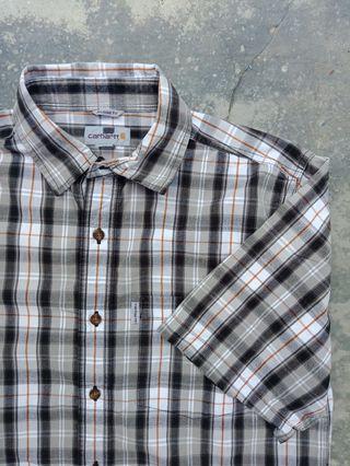 Carhartt button down plaid shirt