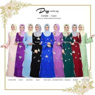 Dress jubah 706