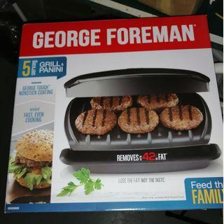 George Foreman 5-serving plate grill (Black)