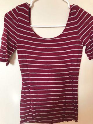 Striped Burgundy Top
