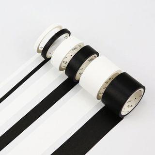[PO] black white monochrome washi tape