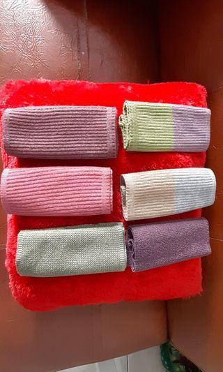 Inner hijab bahan knit anysa (bandana rajut salur)