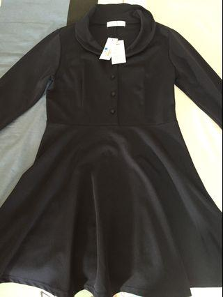 全新深藍洋裝M