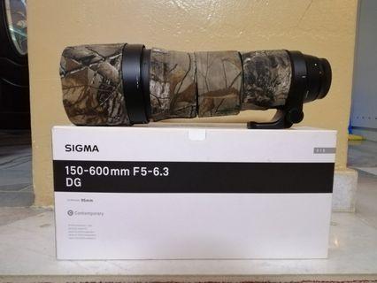 Sigma 150-600mm F5-6.3 DG tele lense for canon