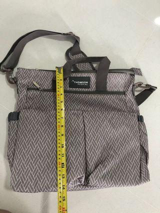 Grey Thomson Diaper Bag