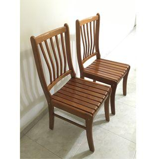 wts solid wood chairs [one pair for $48/ mint condition]