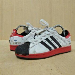 RARE : Adidas Superstar 35 Anniversary I LOVE BERLIN Men Shoes Size 8.5UK LIMITED EDITION