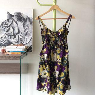 Anthropologie Maeve Giverny 100% Silk Floral Dress