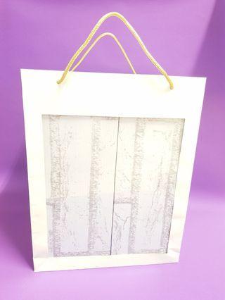 超夯透明櫥窗提袋/手提開窗禮物袋/半透明紙袋/禮物袋/年節禮盒袋/手提袋