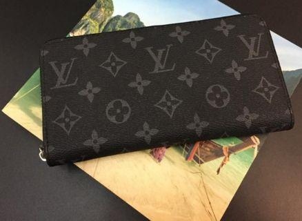 Louis Vuitton Zipper Wallet Black Graphite Monogram