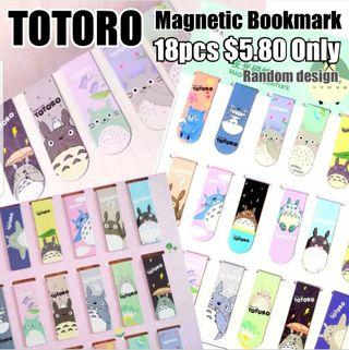 Children Day Gift, Cute Korean Style TOTORO Magnetic Bookmark, Stationery, Birthday, Christmas, Party, Gifts, Goodie Bag