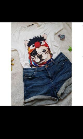 ○泰國製●大頭狗棉質tshirt