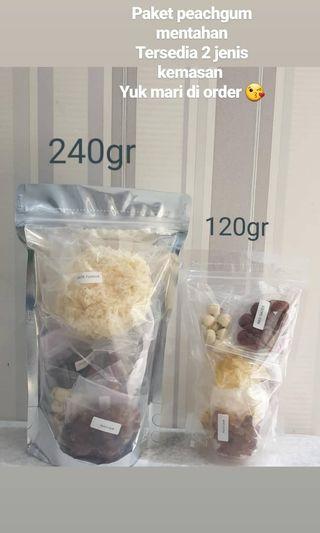 Peachgum dessert paketan komplit...praktis,enak,sehat..semua tersedia dalam 1 paket