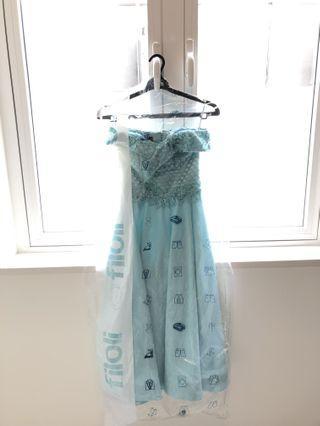 Light Blue Sabrina Medium Dress