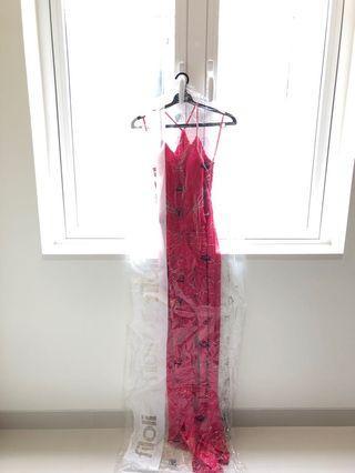 Fuschia Long Dress