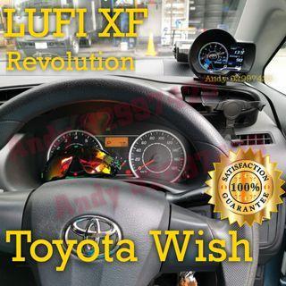 Toyota Wish Lufi XF Revolution OBD OBD2 Gauge Meter display #lufi #defi #magician #ultragauge #scangauge