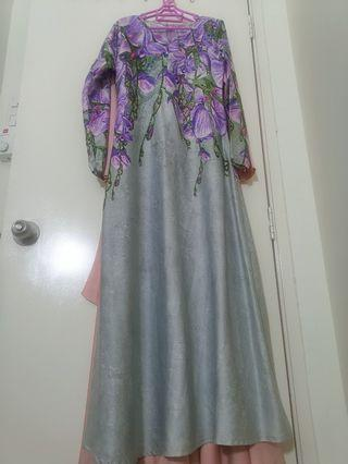 Bella Luna Floral Jubah Dress