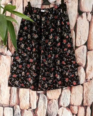 Flower vintage midi skirt #bagibagi
