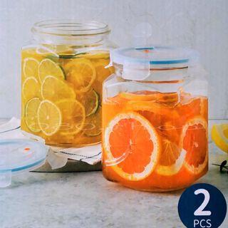 ★韓國現貨Glasslock格拉式洛克強化玻璃保鮮罐2000ml 2入組SP-1910