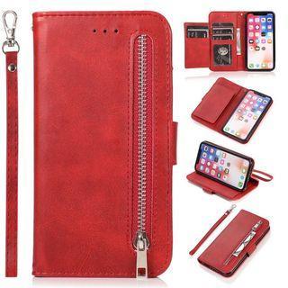 IPHONE XSmax 錢包式皮套(紅)