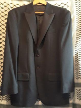 New Men's Blazer full black formal
