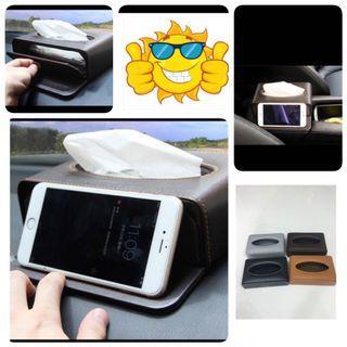 Car Tissue Box/Phone Stand- Good Quality