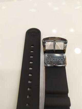 Brand New Seiko Prospex Silicone Strap 22mm Divers Type with Black Buckle