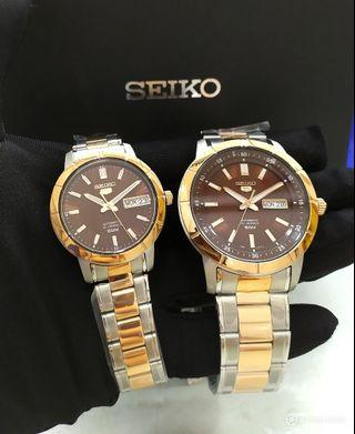 * FREE DELIVERY * Brand New 100% Authentic Seiko 5 Couple Watch Pair Watch Automatic