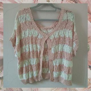 [PLV] cardigan rajut pink atasan murah
