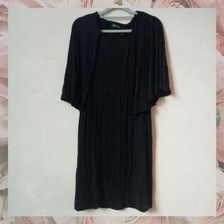 [NEW] zalora batwing midi dress black murah