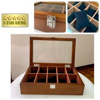 Premium 10 slots Wooden Watch Box-Good Quality