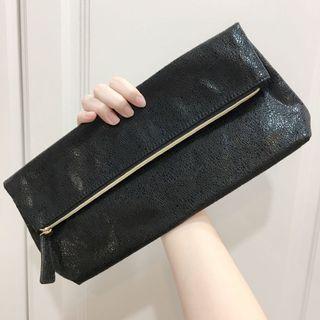 [全新現貨]黑色亮面手拿包