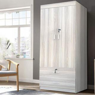 2 DOORS Wardrobe/L69*H175cm/Storage/Cabinet Has/ Y