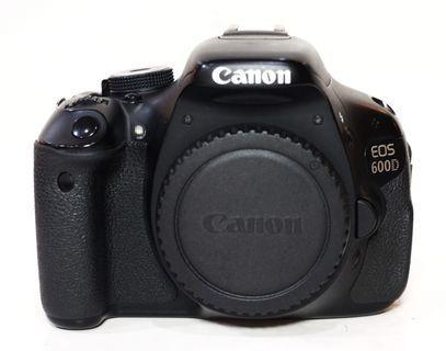 Canon 600D Body Only SC 34xxx Mantaps