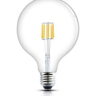 2228) G125 E27 8W LED Dimmable Filament Bulb Cool White