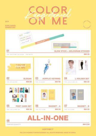 KANG DANIEL COLOR ON ME FANMEETING MERCHANDISE