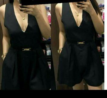 MYE Fashion Black Romper NWOT ( fits S - M )