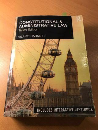 Constitutional and Administrative Law Hilaire Barnett (10th edition)