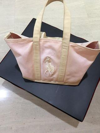 Authentic POLO RALPH LAUREN Canvas Tote bag