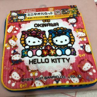 沖繩限定 Hello kitty 小方巾3件組