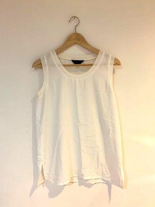 Vintage 法式無袖氣質白紗衫、配裙褲都✨✨✨