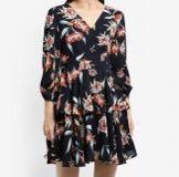 Zalora double tiered floral print dress