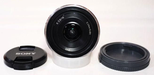 Sony 16mm F.2.8 E- Mount Silver Murmer