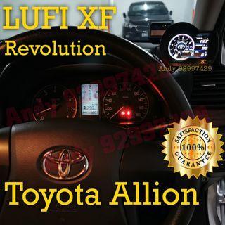 Toyota Allion Lufi XF Revolution OBD OBD2 Gauge Meter display #lufi #defi #magician #ultragauge #scangauge