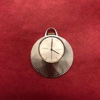 (RESERVED) Vintage 1970 Seiko 21-7160 Pendant Watch Diashock 17 Jewel Mechanical Movement Hand Winding